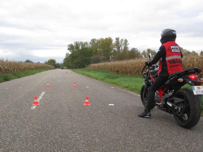 Plateau du permis moto